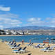 Sunbeds angled to catch the sun on Playa de las Canteras.