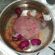 Ham is poached with flavourants