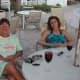 2008 Paula and Kim under the umbrella