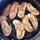 Golden brown banana fritters