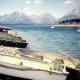 Boats on Jackson Lake