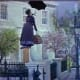 The memorable scene with the flying umbrella.