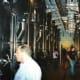 Stainless steel fermenters at Nino Negri Winery