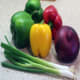 Vegetable mix - Bell peppers, onion, and spring onion