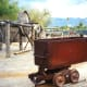 On the grounds of the museum at Furnace Creek Ranch in Death Valley