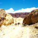 Looking back at people as we were exiting Golden Canyon in Death Valley