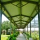Covered walkway in the outdoor nursery area.