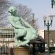 Turtle boy statue in Worcester in Massachusetts