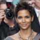 Halle Berry's chunky chains compliment her sequined dress
