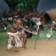 Zulu Dancers portray a stick fight.