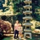 My mother and niece in the Portland, Oregon Japanese Garden