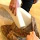 Fold the foam to smoosh it inside.