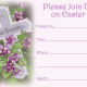 Free religious Easter invitation: vintage flowered cross -- Please join us on Easter