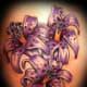 Stylized Purple Lilies