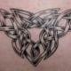 A stylized black knot. (Eye of the Needle, Dalton in Furness, UK)