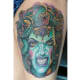 Horror-style Medusa tattoo.