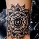 A mandala tattoo.