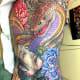 Japanese snake and namakubi tattoo by horiai 初代彫あい
