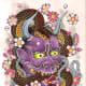 Purple Hannya serpent tattoo