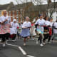 Pancake Day races in Olney, UK