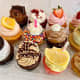 An assortment of gourmet cupcakes