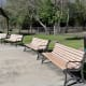 Benches and picnic spots near the spray pad