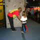 Rock Climbing on the Rockwall in the game room at Austin's Park and Pizza Pflugerville TX
