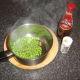 Black pepper and malt vinegar make excellent seasonings for peas