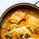 Cashew coconut salmon curry