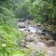 The view taken from the bridge of Tiklas Falls Resort.