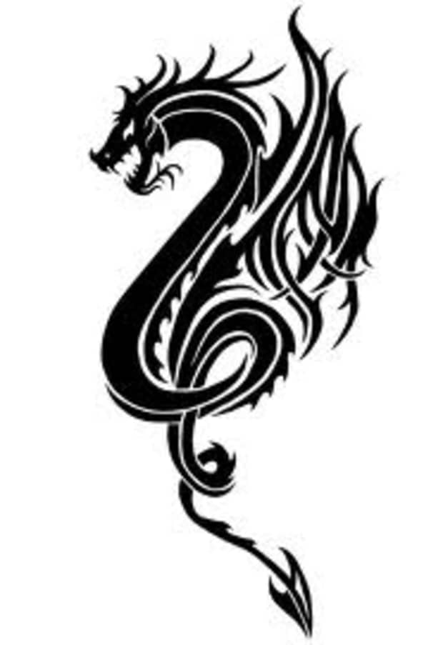 Dragon tribal tattoo meaning