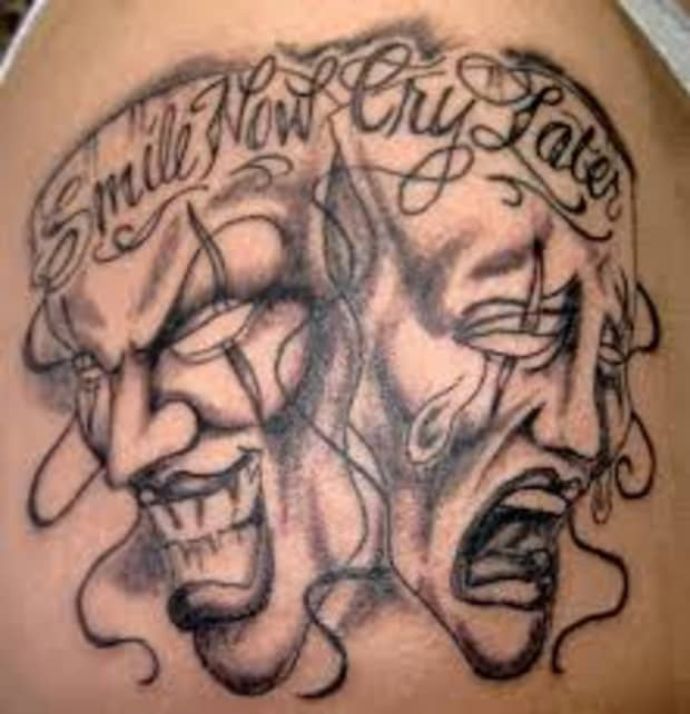 Tattoo two meaning faced Prison tattoos:
