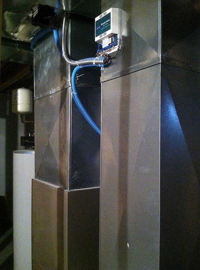 how to install aprilaire humidifier