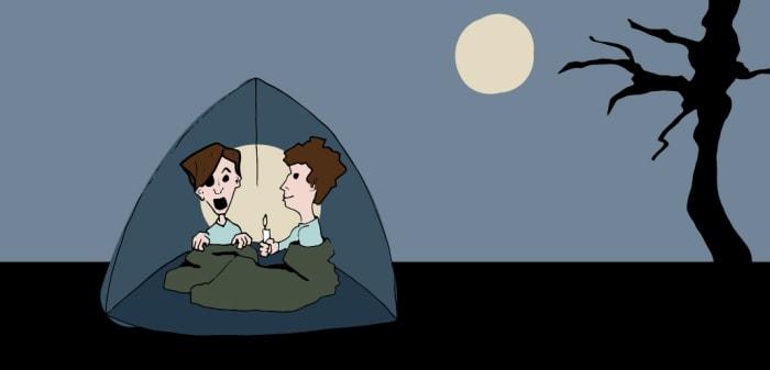 Constituer des histoires de fantômes est une activité nocturne classique.