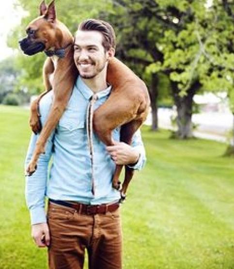 Single mann hund