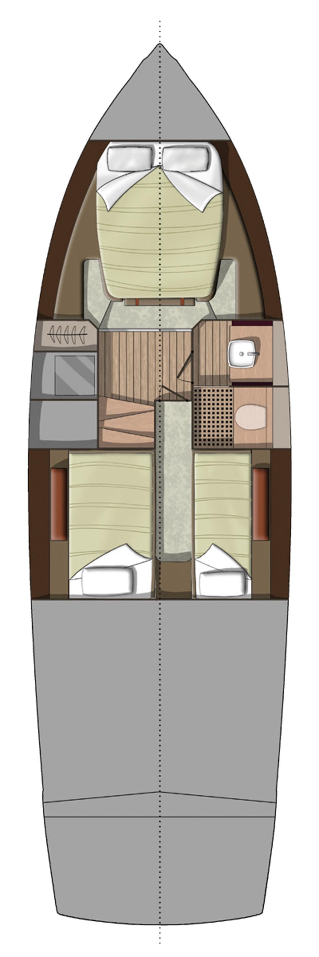 Invictus 370GT layout diagram