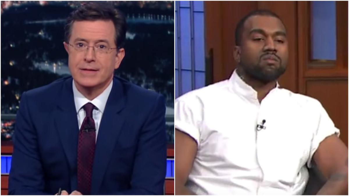 Stephen Colbert Clowns Kanye West's Plea For $1 Billion From Mark Zuckerberg