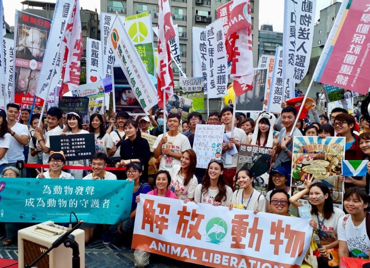Vegan animal rights march Taiwan