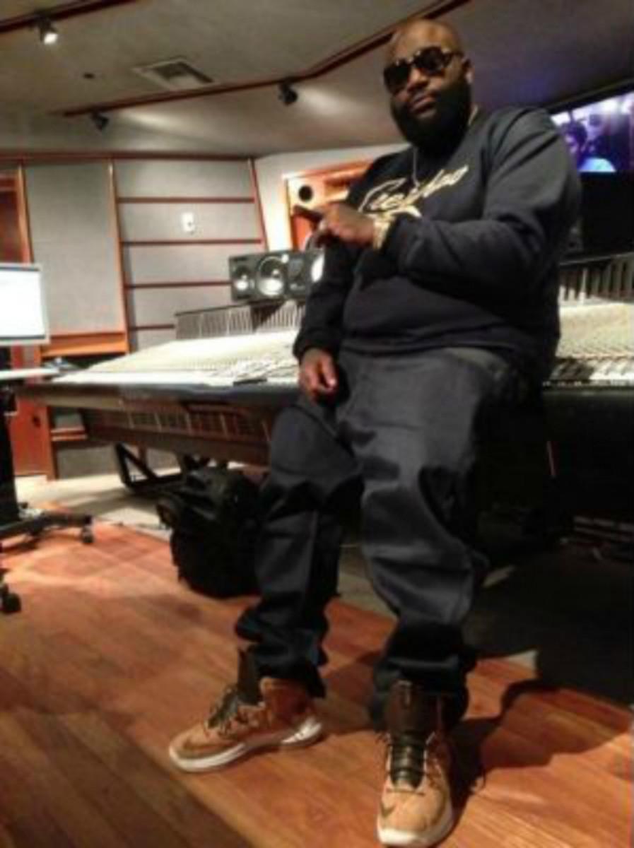 Rick Ross Spotted Rockin' Nike LeBron