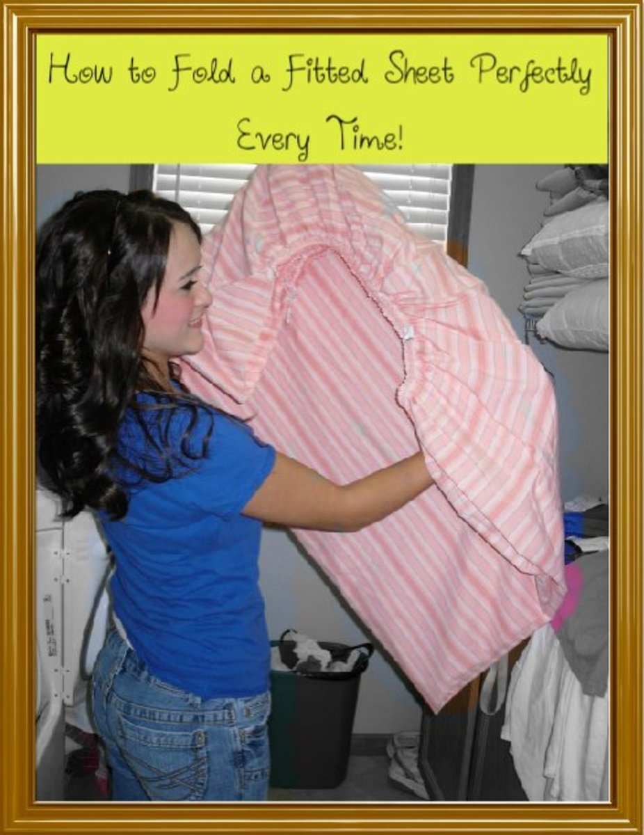 Folding a fitted sheet is easy if you know how!