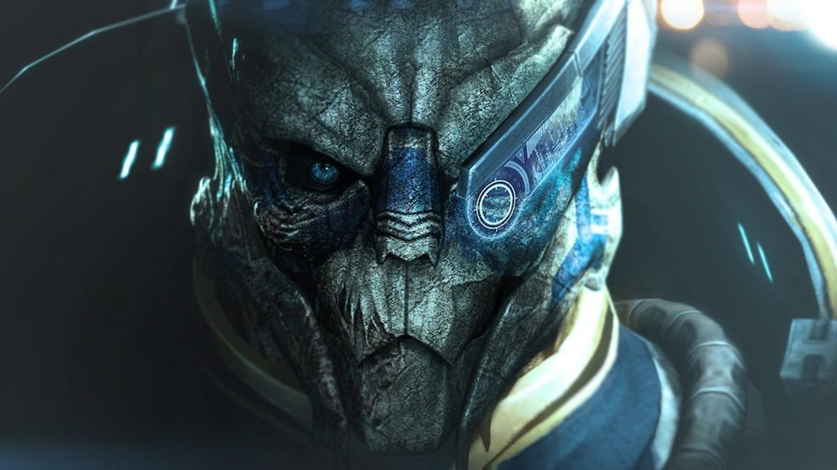 Garrus promotional art.