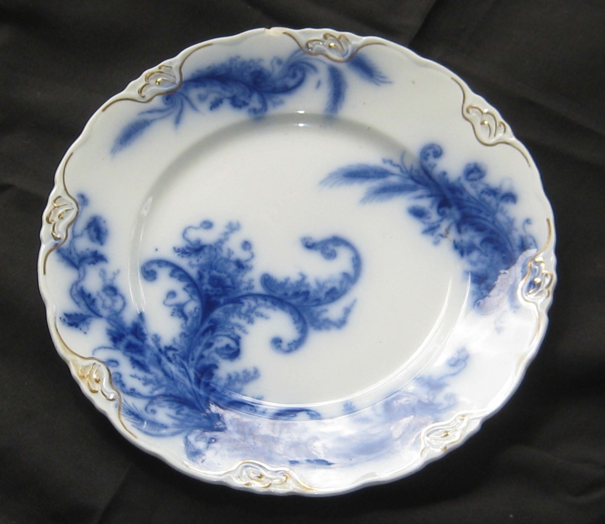 Flow Blue Wentworth by Meakin England 1880 : antique blue plates - pezcame.com