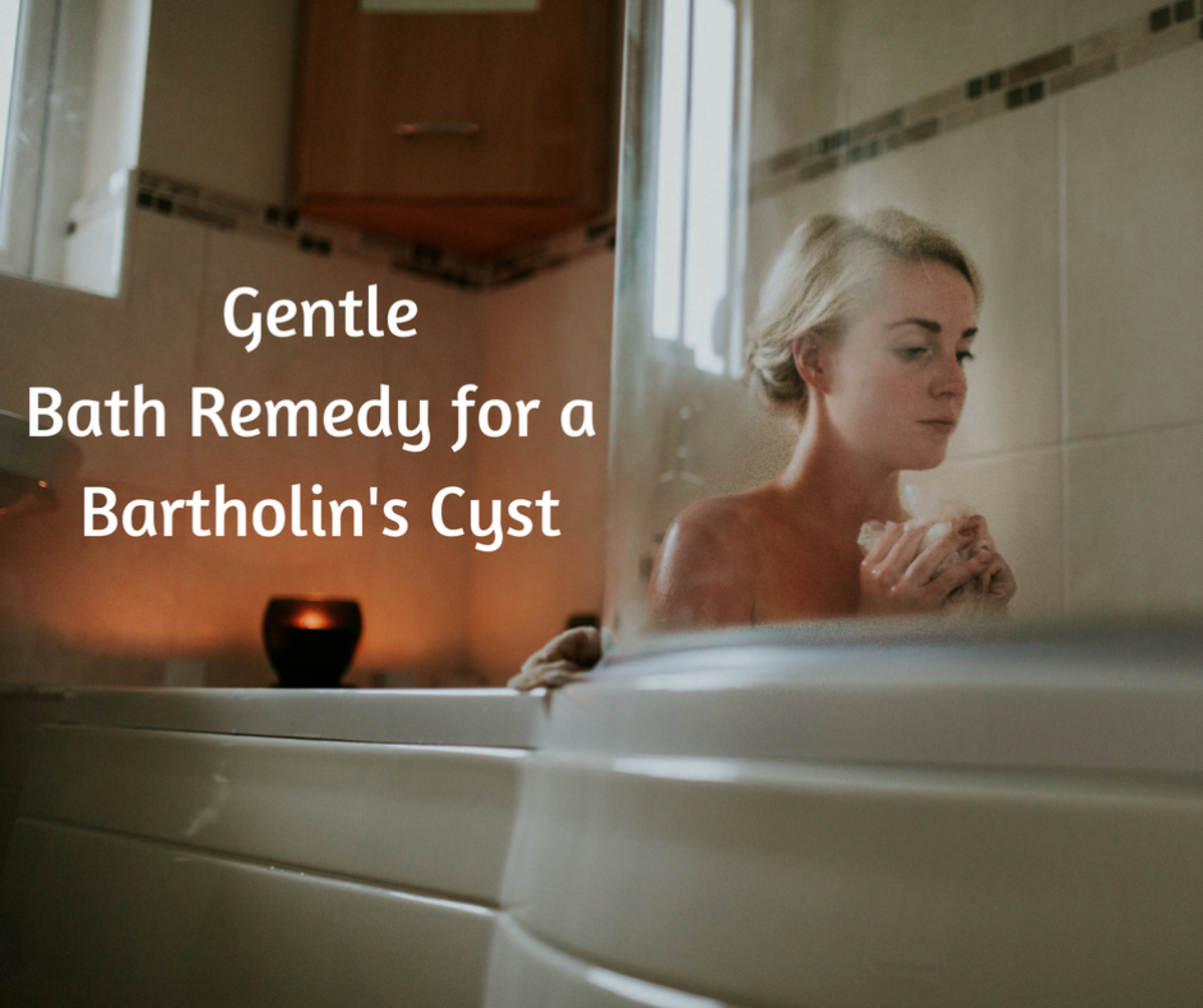 Add Epsom salt and herbs in your bath to ease a Bartholin's cyst.