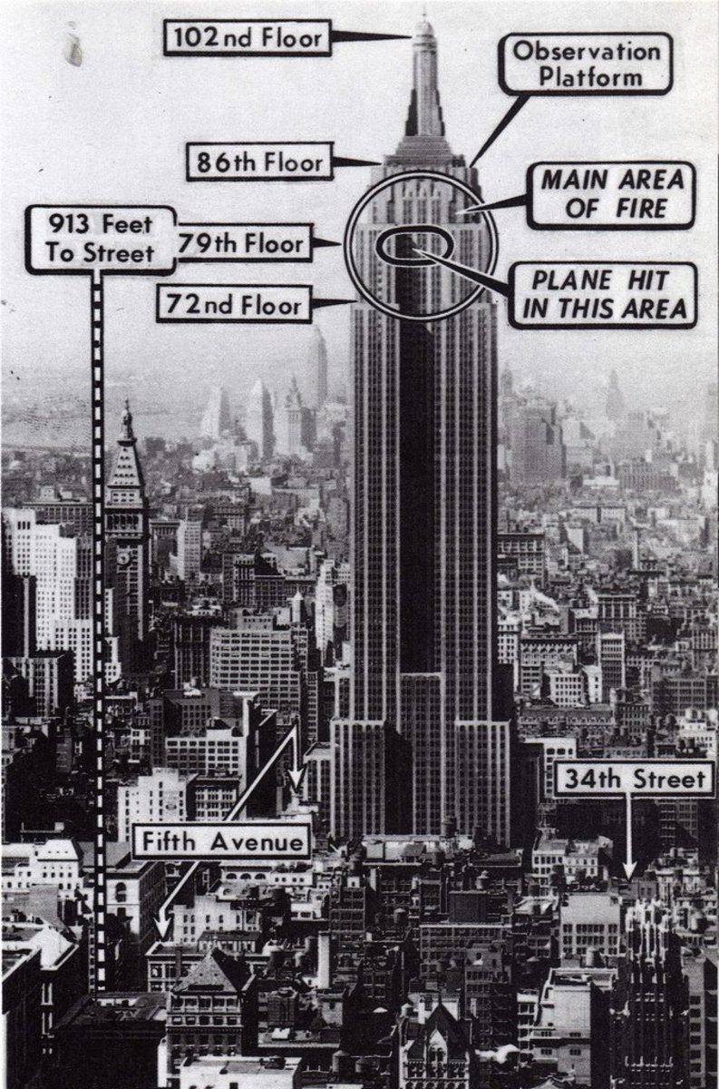 The 1945 Plane Crash At The Empire State Building Owlcation