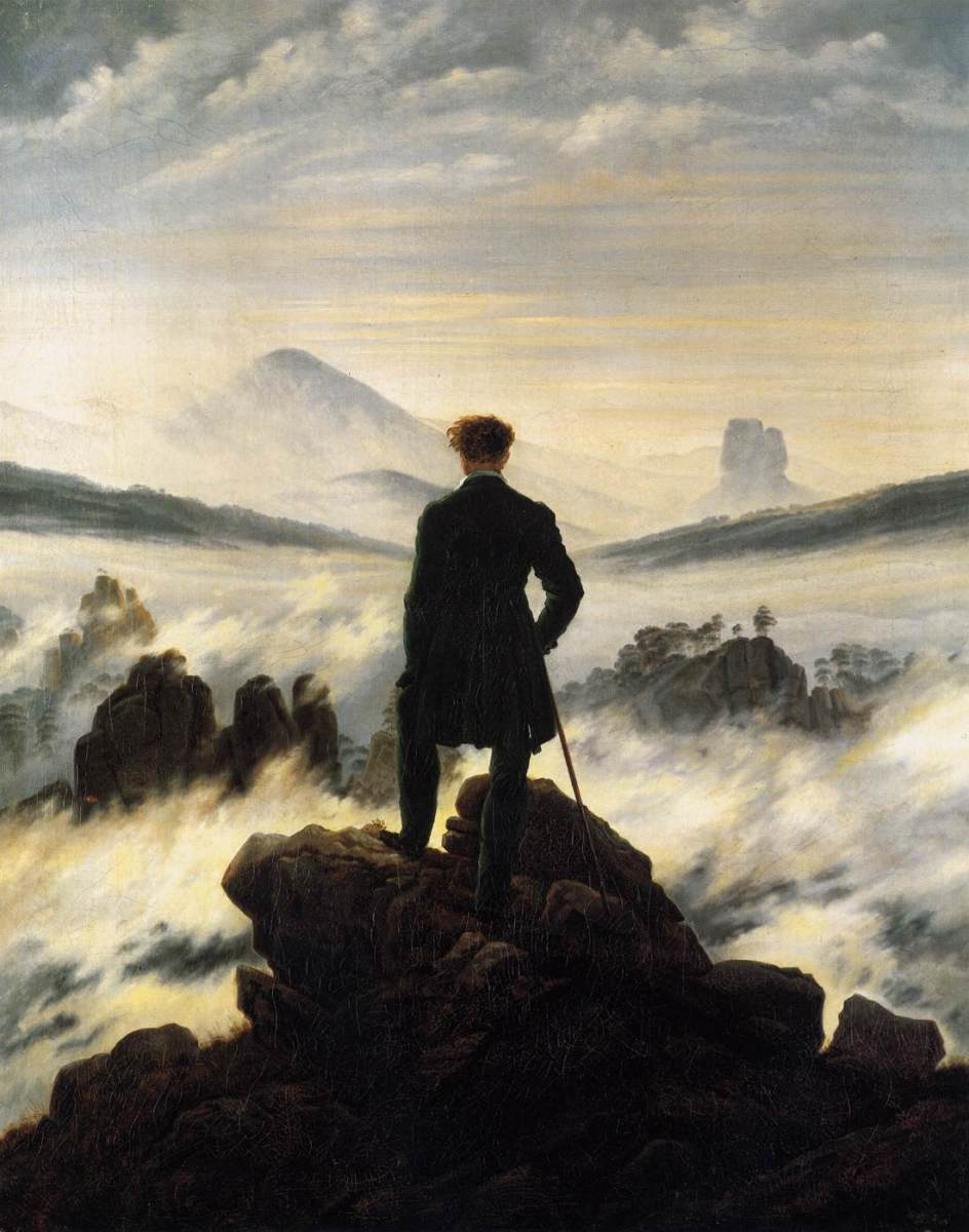 Caspar David Frederich - The Wanderer Above the Mists