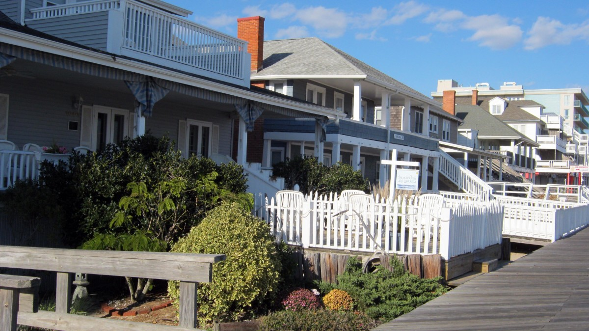 Old Ocean City - A Beautiful Row of Beach Cottages