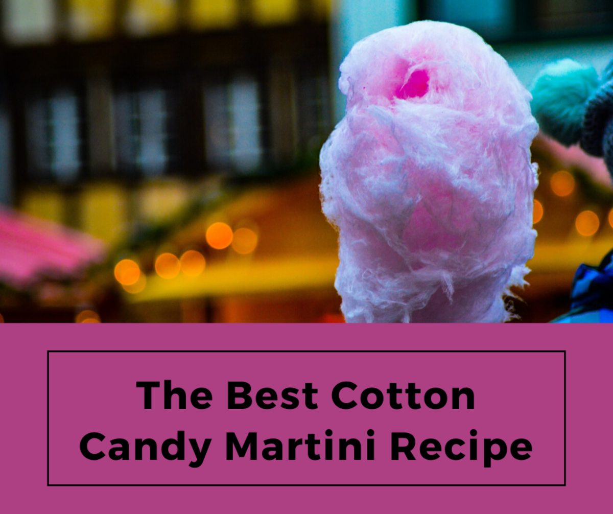 Cotton candy martinis are a delicious treat.