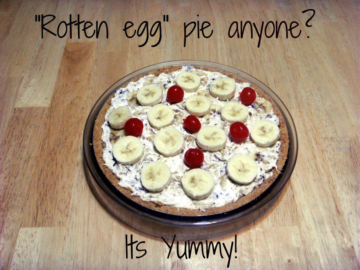 """Rotten egg"" pie - the dessert of choice at our family holiday dinners."