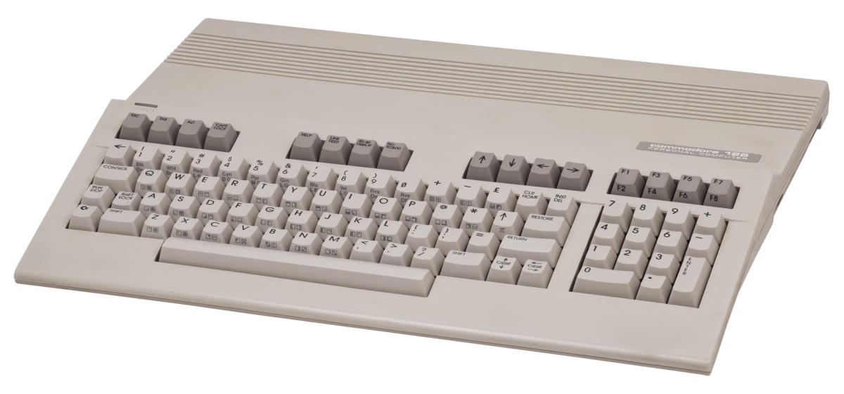 You can see the resemblance between the Commodore 128 and the Commodore Amiga here