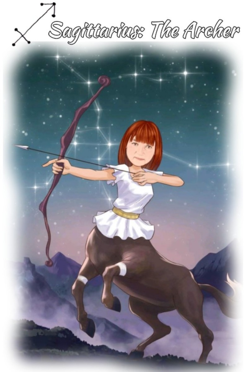 Sagittarius is symbolized by The Archer. Photo made specifically for author.